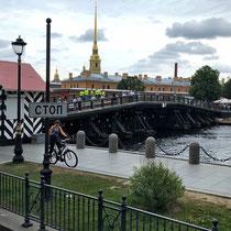 St. Petersburg | Stadtrundfahrt | Haseninsel | Blick auf die Peter-und-Paul-Festung