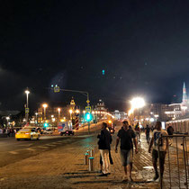 Moskau | Blick über die «Grosse Moskwa-Brücke» Richtung «Roter Platz»