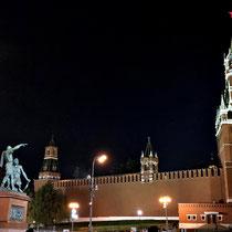 Moskau | «Roter Platz» | «Erlöser-Turm» | Denkmal für Minin und Poscharski