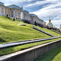 St. Petersburg | Peterhof | Schauseite des 275 m langen Grossen Palastes