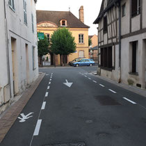 Louhans: Schnappschuss auf der 5. Etappe von Macon nach Louhans.