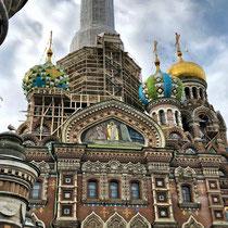 St. Petersburg | Auferstehungskirche (Erlöserkirche) | 1883-1907 | Vorbild war die Basiliuskathedrale in Moskau