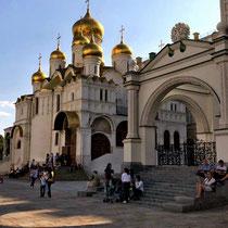 Moskau | Kreml | «Maria Verkündigungs-Kathedrale» | 1485-1489 | Hauskirche der Moskauer Grossfürsten und Zaren