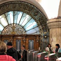 Moskau | Metro | Erster Eindruck beim «Einchecken»