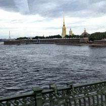 St. Petersburg | Stadtrundfahrt | Blick auf die Haseninsel mit der Peter-und-Paul-Festung
