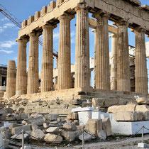 """Der Parthenon (griechisch """"Jungfrauengemach"""") ist der Tempel für die Stadtgöttin Pallas Athena Parthenos."""