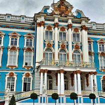 Puschkin | Katharinenpalast | Hauptaufgang und Zarenbalkon