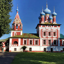 Uglitsch | Demetrios-Kirche oder auch Blutskirche | Aus dem Jahre 1692 | Hier kamen Dmitri - der Sohn Ivan des Schrecklichen und seine Frau Maria - 1591 unter äußerst ungeklärten Umständen ums Leben.