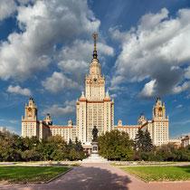 *Moskau | Hauptgebäude der Lomonossow-Universität auf den Sperlingsbergen