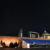 Moskau | «Roter Platz» | Leider konnten wir den Platz wegen den Vorbereitungen auf ein Militärmusik-Festival nicht in seine ganzen Grösse geniessen.