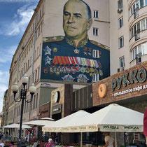 Arbat | Moskau | Georgi Konstantinowitsch Schukow war Generalstabschef der Roten Armee, Marschall der Sowjetunion und von 1955 bis 1957 sowjetischer Verteidigungsminister.