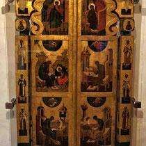 Gorizy | Kirillo-Beloserski-Kloster | Mit Ikonen verziert Tür, die uns besonders angesprochen hat.