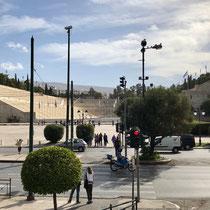 Panathinaiko-Stadion (auch als Kallimarmaro bekannt): Olympiastadion der ersten Olympischen Spiele der Neuzeit im Jahre 1896. Es wurde als Rekonstruktion auf den Fundamenten des antiken Stadions gebaut.