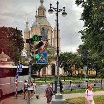 St. Petersburg | Stadtrundfahrt | Schnappschuss durch's Busfenster