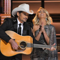 Hosts Brad Paisley and Carrie Underwood open the show at the 50th Annual Country Music Association