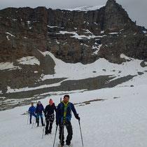 La cordée sur le Glacier di Moncorvé