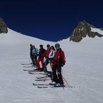 Sur le haut du Glacier du Géant