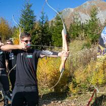 Peter Sagan beim Bogenschießen (Copyright: Expa Pictures)