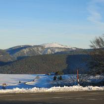Impression du Feldberg, premiers chutes de neige, photos pris du Storen, en montant de Munstertal.
