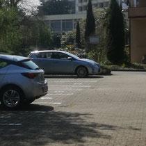 Privatparkplatz der Ferienwohnung in Bad Krozingen