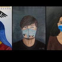 Selbstportrait mit MN-Maske und...