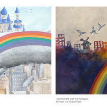 "Entwürfe zur CD ""Somewhere Over the Rainbow"""