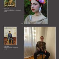 Kunstwerke nachempfinden, nachstellen und fotografieren