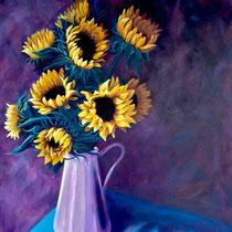 'Sunflowers' Acrylic unframed 60cm x 75cm £350