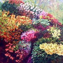 'Riot Of Colour At Lea Gardens' Acrylic framed 50cm x 75cm £350
