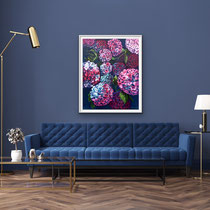 'Magnificent Blooms' Acrylic framed in white 60cm x 75cm £850