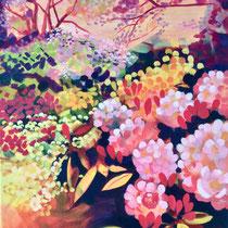 'Colourful Day At Lea Gardens' Acrylic framed 70cm x 85cm £450