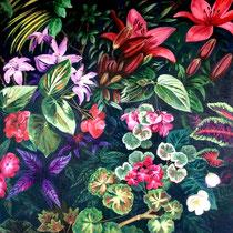 'Botanicals' Acrylic Glaze framed 80cm x 80cm £450