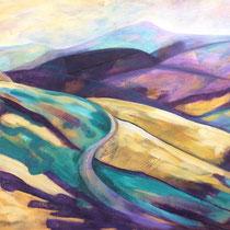 'Towards Shuttlingsloe' Acrylic framed  92cm x 78cm £650
