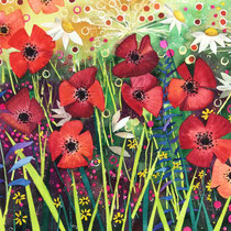 'Mad Meadow II' Watercolour framed £160