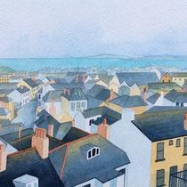 'St Ives' Watercolour framed in white £250