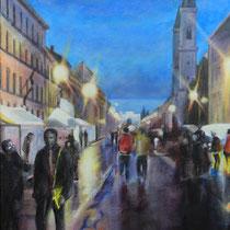 Straßenfest Ludwigstraße - Acryl auf Leinwand - 50 x 70 cm