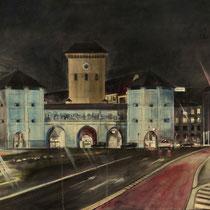 Isartor München - Acryl auf Leinwand - 90 x 60 cm