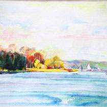 Ammersee - Aquarell - 30 x 40 cm