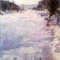 Isar hinter Marienklause- Pastell - 50 x 70 cm