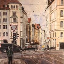 Thierschstraße München - Acryl auf Leinwand - 60 x 80 cm