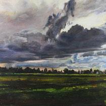 Münchner Osten bei Trudering - Acryl auf Leinwand - 60 x 90 cm