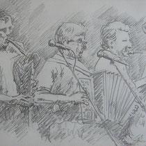 Biermösl Blosn - Bleistift - 20 x 30 cm