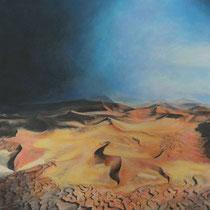 Wüste II - Acryl Mischtechnik - 100 x 100 cm