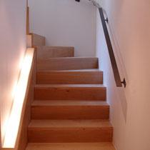 escalier avec limon lumineux
