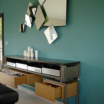 meuble musique tiroirs ouverts