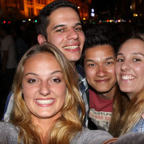 mit Michael, Fabißen und Jana in der Stadt kurz vor NYE