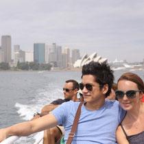 Michael und Regina, auf dem Weg in den Taronga Zoo