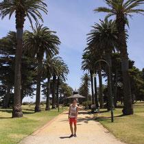 Am St. Kilda Strand in Melbourne