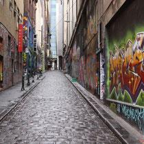 In den kleinen Lanes von Melbourne (Hosier Lane)