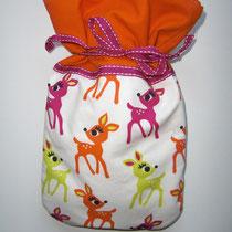 42 Wärmflaschenbezug für kleine Kinderwärmflaschen (innen mit Fleece)